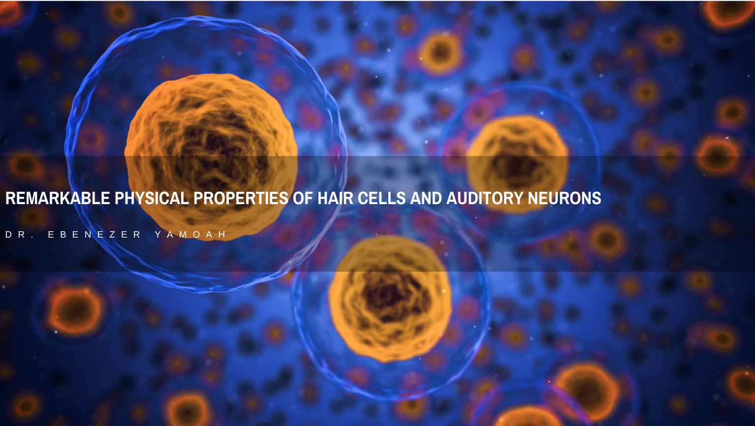 Dr. Ebenezer Yamoah: Remarkable Physical Properties of Hair Cells and Auditory Neurons