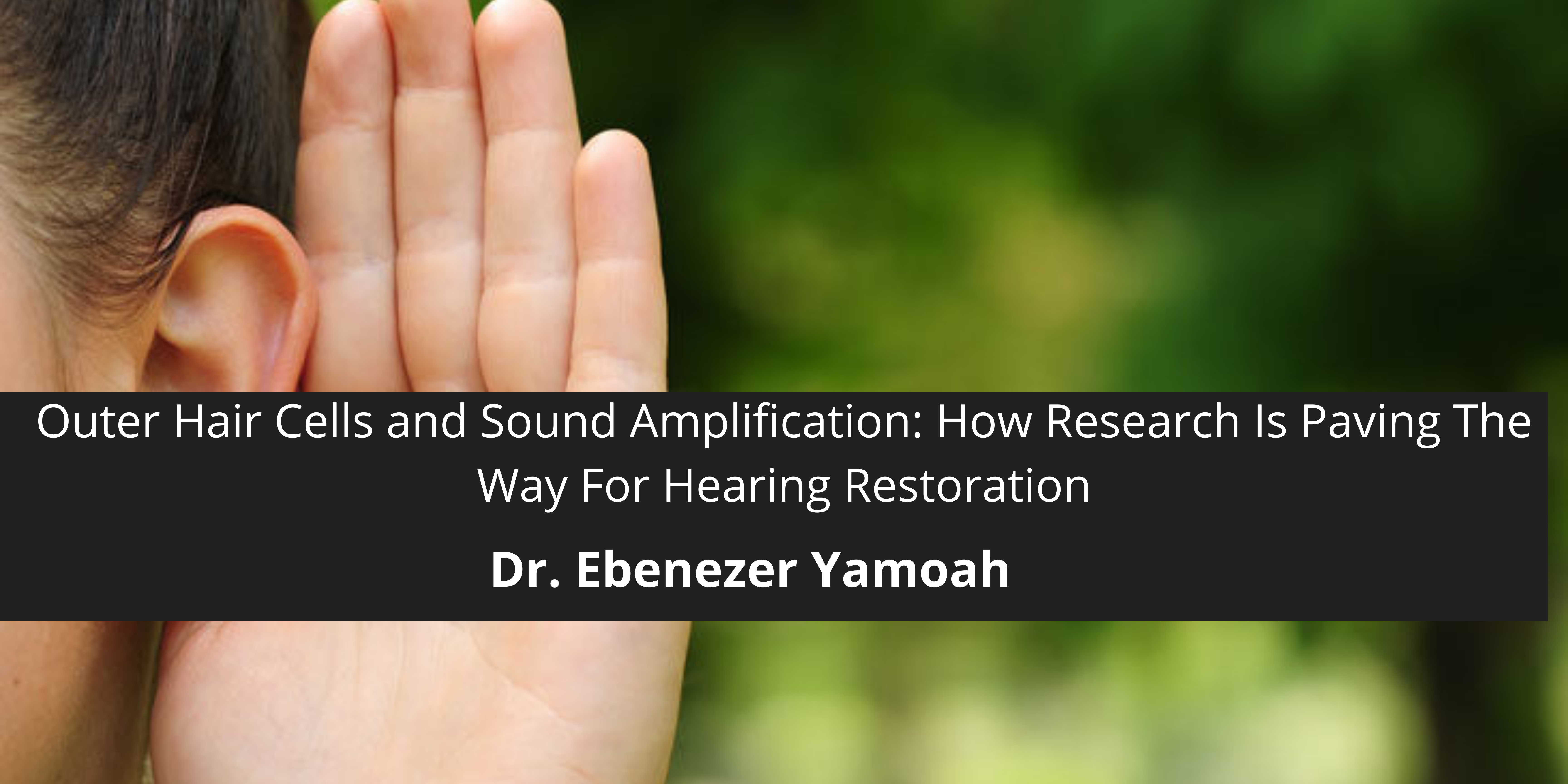 Outer Hair Cells and Sound Amplification: How Dr. Ebenezer Yamoah's Research Is Paving The Way For Hearing Restoration